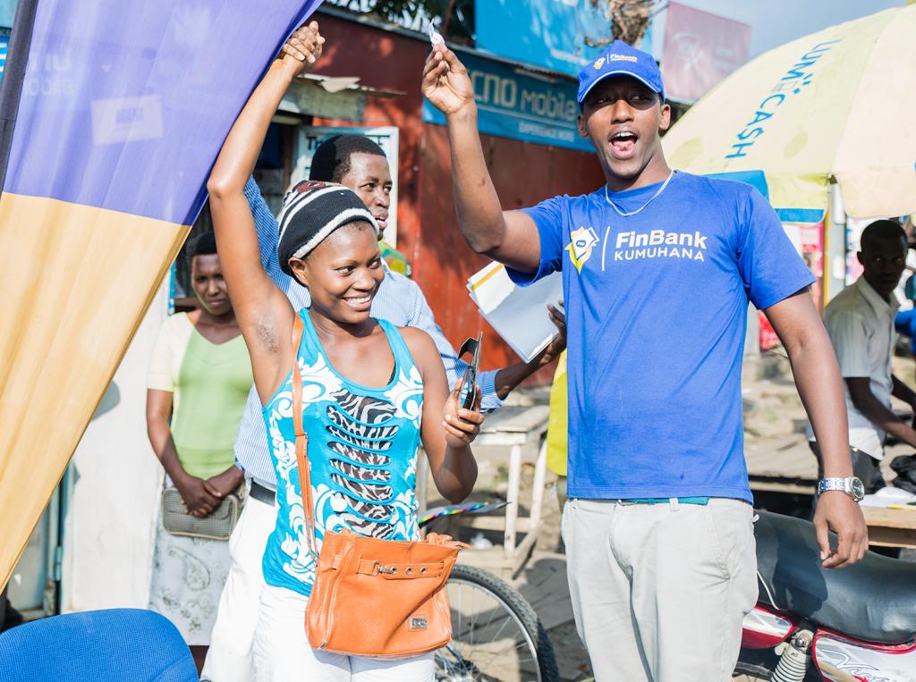 La joie d'une gagnante à Kamenge